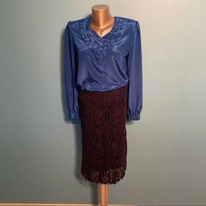 Women's vintage blue blouse